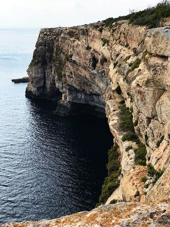 Perspectives On Nature Rock Formation Rock - Object Nature Geology Cliff Beauty In Nature Scenics Tranquility Physical Geography Sea Tranquil Scene Water Day No People Natural Arch Outdoors Sky Malta MALTA❤ Birżebbuġa Perspectives On Nature