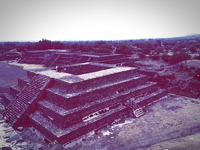 Mexico Pyramid Ancient Civilization Mexico City Outdoors