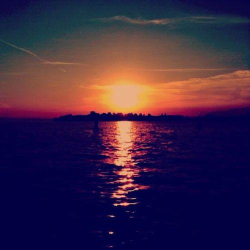 Sonnenuntergang in Vendig