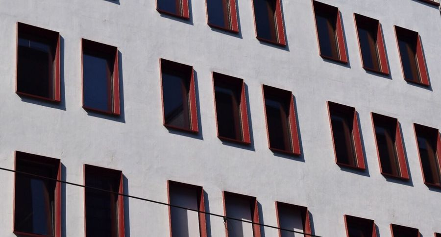 Building Exterior Architecture Window Built Structure Low Angle View Repetition City Building In A Row Tall - High Outdoors Day Full Frame Office Building City Life No People Façade High Section Berlin Berlin Mitte