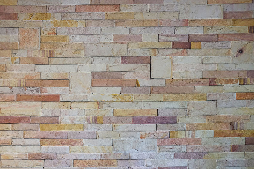 The brick wall background was empty on the wall. Architecture Art And Craft Backgrounds Brick Brick Wall Brown Built Structure Creativity Day Design Flooring Full Frame Multi Colored No People Pattern Shape Textured  Textured Effect Tile Tiled Floor Wall Wall - Building Feature