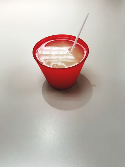 Made myself a drink. Office Life Cocktails Mixed Drink Red Food And Drink Indoors  No People Drink Food Refreshment Still Life Copy Space Cup Drinking Straw Close-up