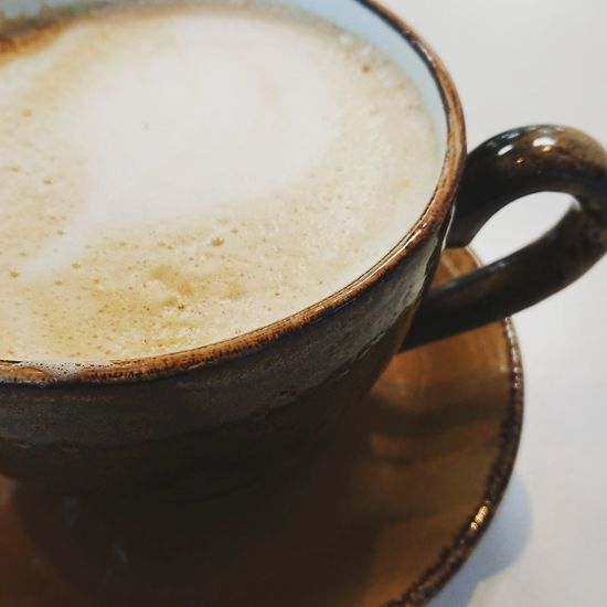 Cappuccino Coffee Drink Defocused Close-up Food And Drink Hot Drink Beverage Caffeine Frothy Drink Saucer Tea Cup