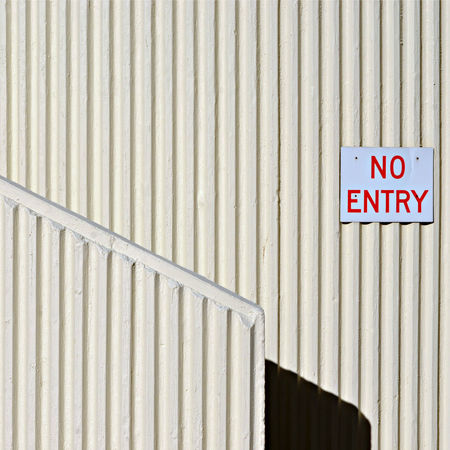 Afternoon Light on White Concrete Architectural Wall Detailing with Diagonal Line and No Entry Wall Sign Australia Backgrounds Close-up Concrete Texture Day Detail Diagonal Lines Full Frame Information Sign No People Outdoors Repetition Ribbed Wall Shadow Shadows & Lights Steffentuck Urban Urban Landscape Wall Shadow White White Color