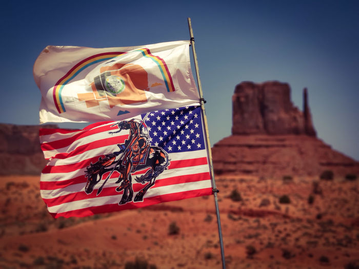 Native Americans Monument Valley Monumentvalley Monument Valley,Utah USA Monument Valley Tribal Park Native American Indian Native American Desert Blue Patriotism Flag Adventure Wind Cultures Sky