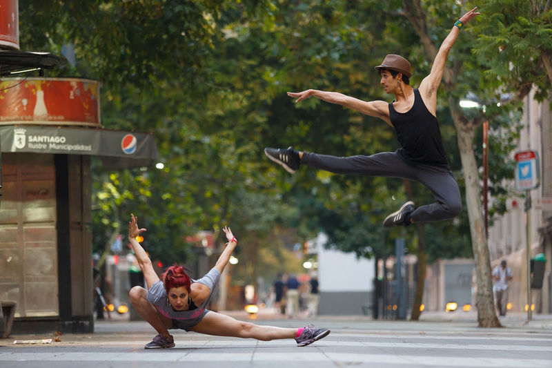 Ballet City Dance Full Length Happiness Jumping Outdoors Performance Street Streetphotography Two People