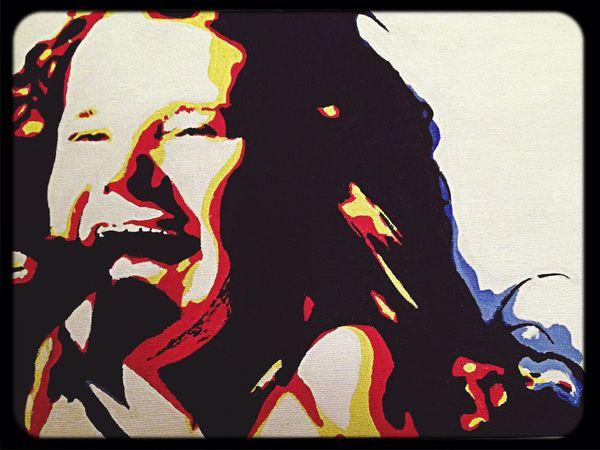 My Painting Janisjoplin Janis Joplin Acrylic Painting Paint Art, Drawing, Creativity