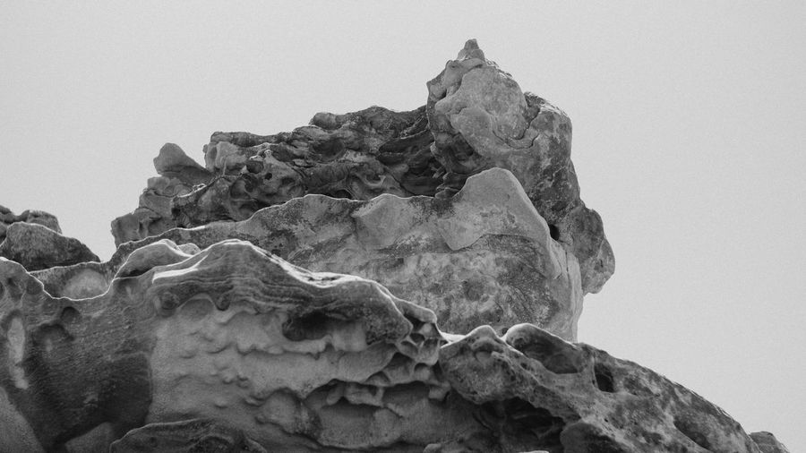 A beautiful cliff in Sydney, Australia Abstract Abstract Photography Abundance Australia Beach Beauty In Nature Beauty In Nature Bnw Bnw_captures Bnw_friday_eyeemchallenge Clear Sky Cliff Close-up Day Geology Low Angle View Mountain Nature No People Outdoors Rock - Object Sky First Eyeem Photo
