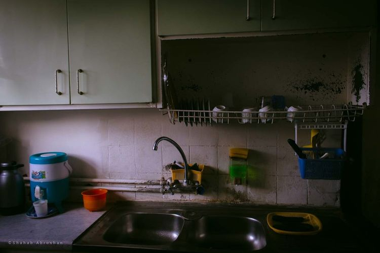 Old House Kitchen Sink No People Cabinet Metal Home Indoors  Kitchen Counter