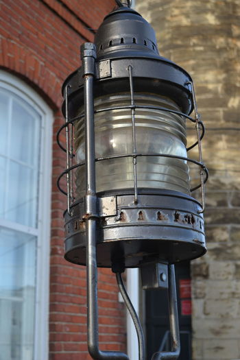 Lantern Light Architecture Building Exterior Built Structure Close-up Day Fairport Harbor Fairport Harbor Lighthouse Low Angle View No People Ohio Outdoors