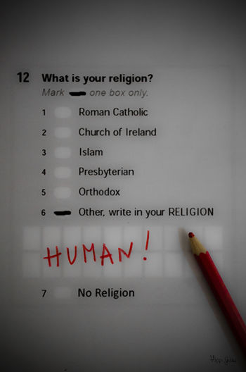 12. What is your religion? -HUMAN. FILIPPI GIULIA PHOTOGRAPHY. Berlin Blackandwhite Box Canon Colors Communication Fun Funny Germany God God's Beauty Human HUMANITY Light And Shadow Message No People Pencil Photographer Photography Questions Red Religion Society Text Text