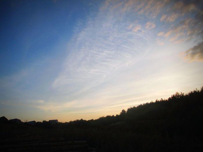 небо Evening вечер прекрасный вечер дорогадомой Beauty In Nature наедине с природой Beautiful Nature Природа красота нежность Beautiful Россия облака Russia