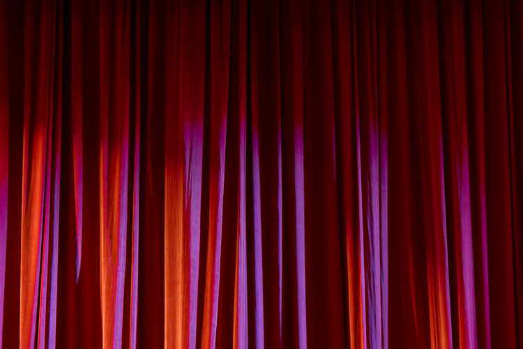 Full frame shot of illuminated curtain