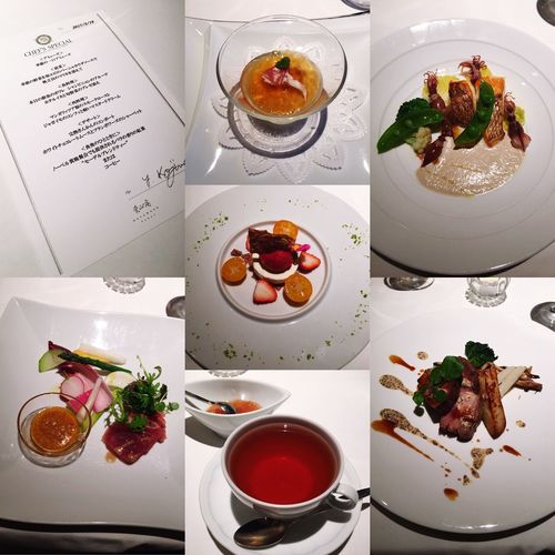 Sophisticated and delicious dinner 🍴 We wanna eat at this restaurant once more time😋 at Aoyama Hayamaan ✨thank you 💕I appreciate my husband 's kind and gentle heart ❤️ French Healthy Eating Freshness Indoors  Delicious Thankyou Whiteday