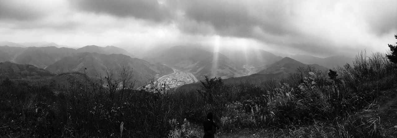 Noir Filter Iphon6s Gangwon-do Mindung Mountain Jeongseon Black And White Panorama