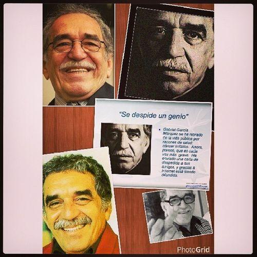 """A los 87 años murio un grande, Gabriel Jose Garcia Marquez, escritor y periodista. """"No hay medicina que cure lo que cura la felicidad"""" Minutodesilencio Gabo Adiosaungrande"""