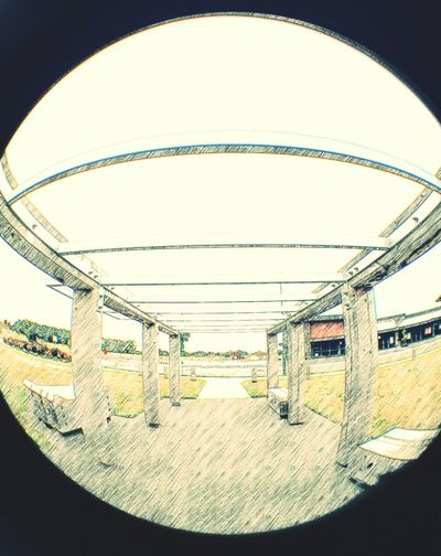 Sketchy bridge. Architecture Built Structure Arch No People Day Outdoors Sketch Art Bridge - Man Made Structure EyeEm Gallery EyeEm Best Shots - Architecture Fish Eye Lens Fish Eye Effect Fish Eye Street Photography