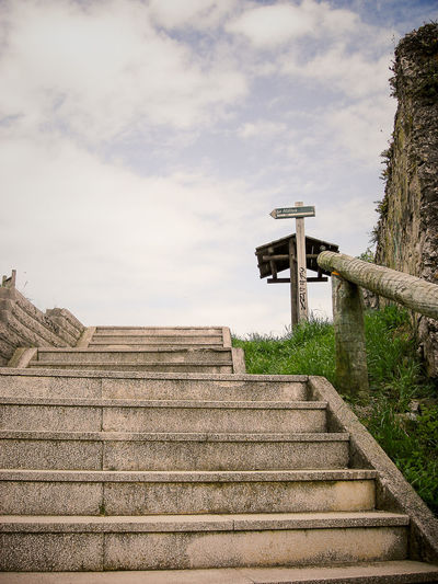 Building Exterior Cloud Cloud - Sky Direction Laredo Leading Low Angle View No People Outdoors Signs Sky SPAIN Staircase Stairs Stairs_collection Tourism Travel Traveling
