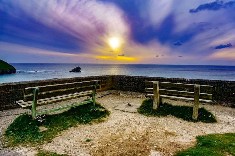 A seat with a view Horizon Over Water Cloud - Sky Water Beach Sea Vacations Scenics No People Tranquil Scene Nature Tranquility Sunset Sunlight Day Summer Beauty In Nature Outdoors Sky Sunset_collection Sunsets Of Eyeem Gold Colored The Great Outdoors - 2017 EyeEm Awards Seats On The Beach Seatwithaview Seating Bench seating ocean Sea sunsets sky cloud landscapes Seascapes