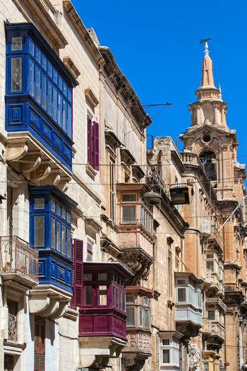 Valletta Balconies Valletta European Capital Of Culture 2018 Valletta,Malta Architecture Balconies Balcony Building Exterior Built Structure City Day Low Angle View No People Outdoors Valletta Wooden Balconies