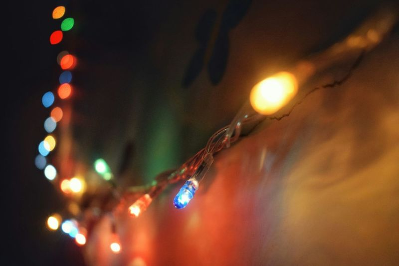 little lights in a little big town. Sparkle Lighting Light Effect Bedroomdecor Hanging No People Christmas Lights Celebration Christmas Decoration Light Bulb First Eyeem Photo Lighting Equipment Fairy Lights Glowing Illuminated Close-up Night EyeEmNewHere