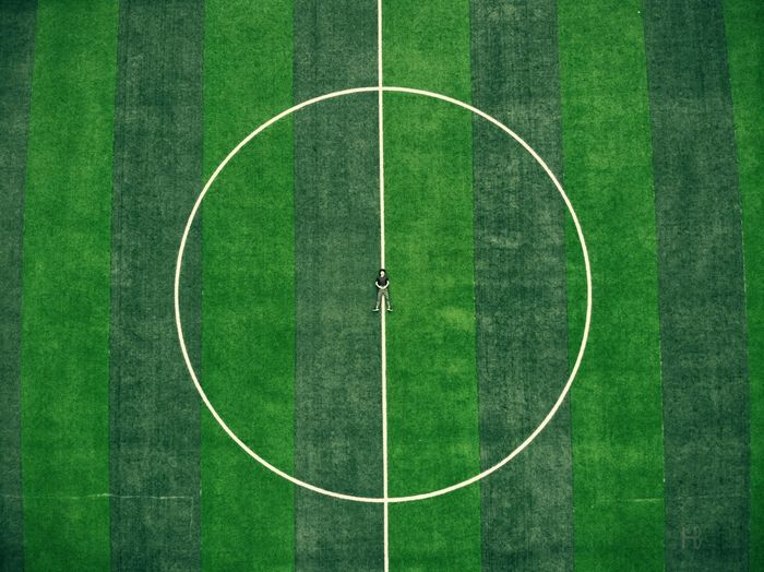 10 There are no perfect circles and lines 10 Green Color Plant Grass Geometric Shape Sport Day Circle No People Outdoors 10