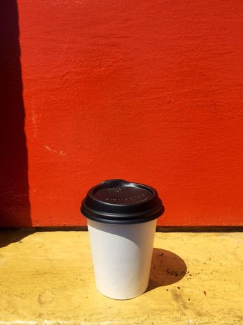 Container No People Indoors  Yellow Architecture Built Structure Close-up Day Coffee Cup Take Away Coffee