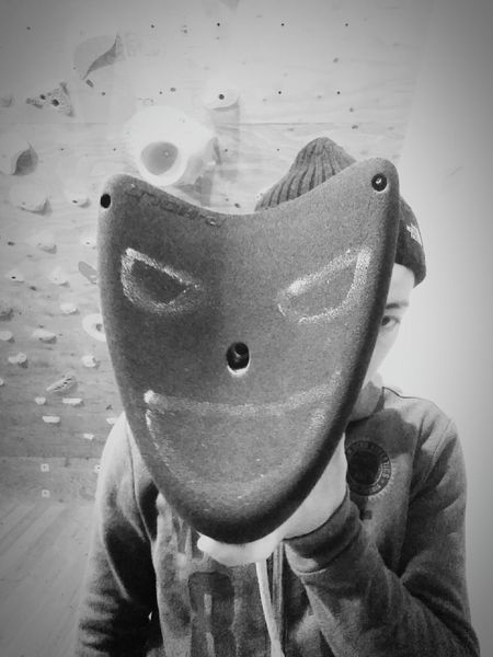 got a new hold for my private wall Climbing Bouldering Climbingwall Blackandwhite Black & White Me