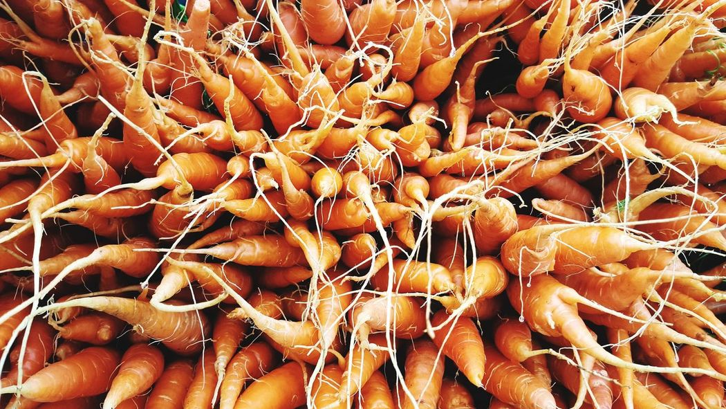 Root Backgrounds Full Frame No People Nature Close-up Market Baby Carrots Thailand Harvest Plant