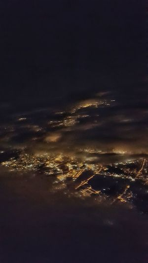 #milano #airplane Cloud - Sky Nightphotography Night Lights Night View Night View Milano