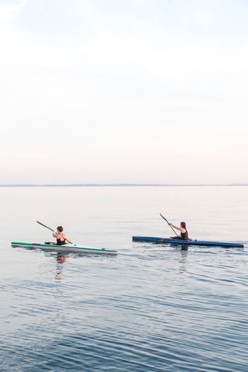 Bardolino Competition Day Friendship Horizon Over Water Kajak Kanu Lago Di Garda Leisure Activity Nature Outdoors Paddle Boats Rowing Sea Sport Synchronicity Teamwork Togetherness Tranquility Two People Water First Eyeem Photo