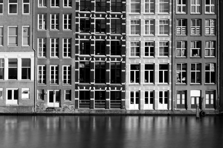 A building exterior in Amsterdam. Architecture Building Exterior Built Structure Day House House And Windows Houses No People Outdoors Water Window Fujifilm_xseries FUJIFILM X-T2 Fujifilm