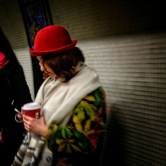 Commute Red Comuting Casual Clothing Street Streetphotography Fashion Red Lips London Urbanphotography Eye4photography  LONDON❤ Alone In The City  OpenEdit Hanging Out Capture The Moment Londonlife Street Photography Street Fashion Underground Subway Tube Taking Photos EyeEm Best Shots Londoncity