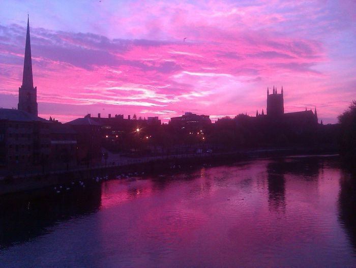 'Sunrise over Worcester Cathedral' Second Viewing (2012) ...Incredibly, this is genuinely No Edit/no Filter EyeEm Best Shots - Sunsets + Sunrise Keep The Fire In Your Heart The Calmness Within