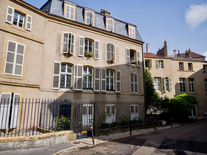 France Metz, France Shutters Sunny Architecture Building Building Exterior Built Structure City Day History House No People Outdoors Residential District Row House Street Sunlight The Past Town Window Windows