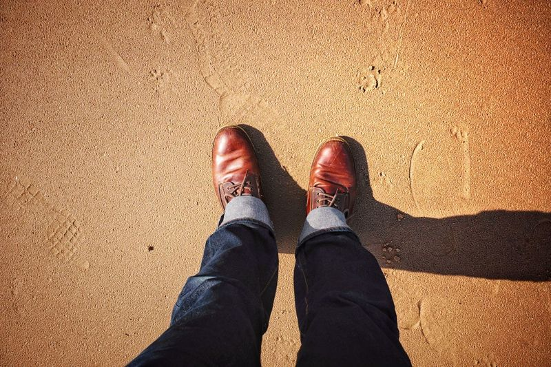 EyeEm Selects Beach walk with boots on - Shoe Sand Personal Perspective Real People Men Beach Walking Around Looking At My Feet. Feet Boots Inverness