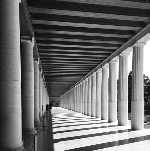 Ancient Greece Blandwhite Greek Ancient Shadow Colonnade Day Pattern In A Row Indoors  Arcade No People Corridor Ceiling Nature Diminishing Perspective Repetition Long First Eyeem Photo