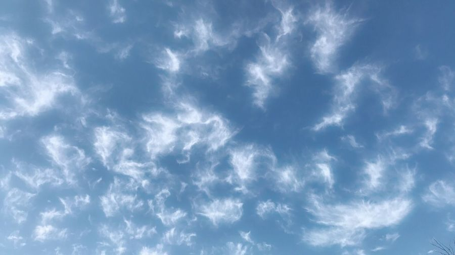 Funny clouds in