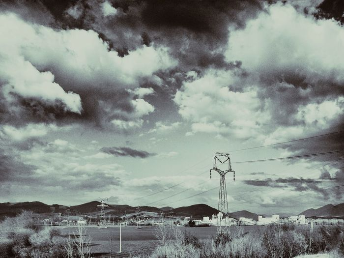 How Do We Build The World? Industrial Landscapes Electric Wires Electricity Pylon Industry Mill Monochrome Fields Mountains High Voltage Factory Landscapes With WhiteWall