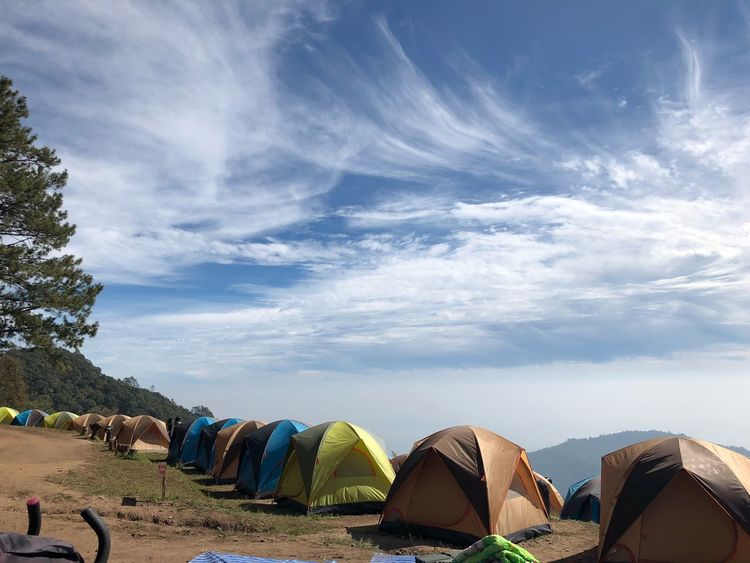 Tent Camping Camping Cloud - Sky Sky Nature Land Water Day Tree Outdoors