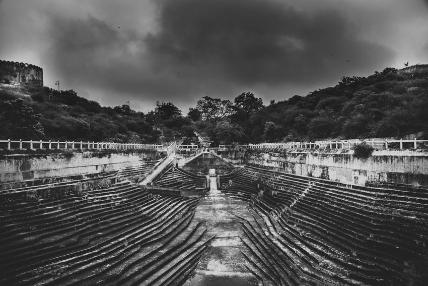 Leading Lines of Life Ansel Adams Inspired India Nikon Sigma Art SigmaLenses Architecture Black And White Blackandwhite Bridge Built Structure Cloud - Sky Connection D750 Day Landscape Landscape_photography Nature No People Outdoors Overcast Sky The Way Forward Track