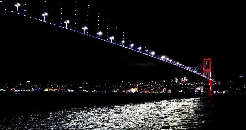 Night City Travel Destinations No People Istanbul Turkey Istanbulove Istanbulbogazi Bogazturu ❤TÜRKİYE❤ Illuminated Bridge - Man Made Structure Built Structure Architecture Outdoors Sky Low Angle View Cityscape Skyscraper Urban Skyline