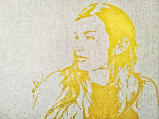 Kleinecleo1000 Golden Wife Gold Beautiful Girl Acrylic Painting Painting Icke Art ArtWork Art, Drawing, Creativity Art Gallery Leinwand Kunst Gemälde Malerei Monochrome The Portraitist - 2016 EyeEm Awards