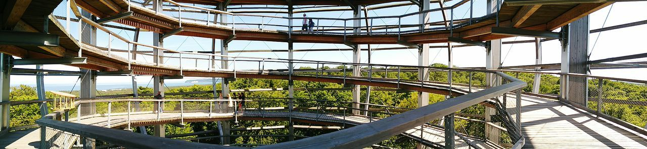 Railing Built Structure Day Architecture No People Spiral Staircase Outdoors Greenhouse Sky BaumwipfelpfadTrees Rügen Lovers Ostsee Vacations Cloud - Sky Woods Tree The Great Outdoors - 2017 EyeEm Awards The Graphic City Go Higher Summer Exploratorium