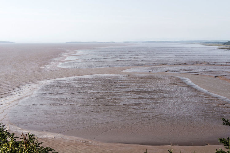 High angle view of beach against sky