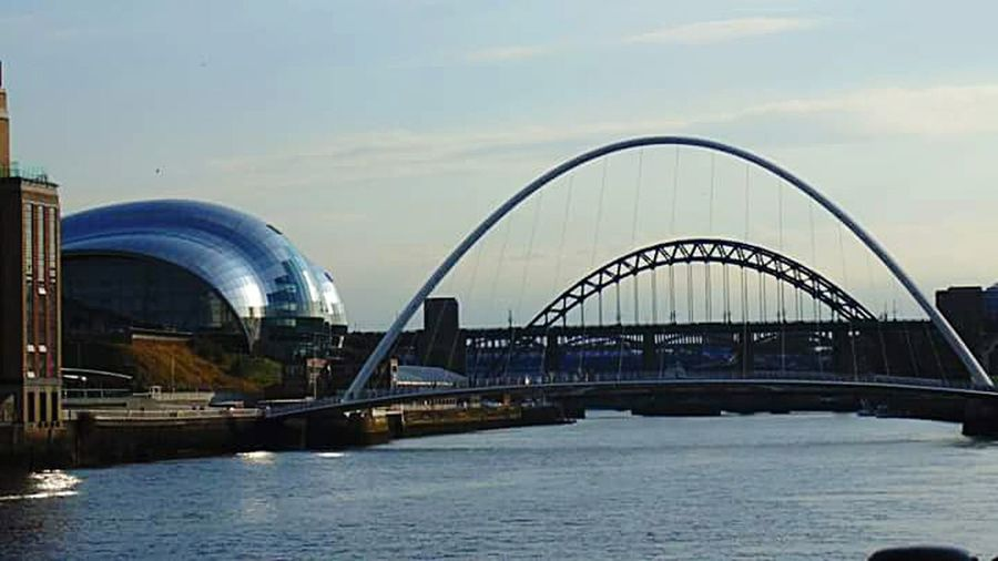 City Cityscape Bridge - Man Made Structure Water Outdoors Architecture Building Exterior River Tyne, Milleniumbridge EyeEm Best Shots - Nature Eyemphotography River