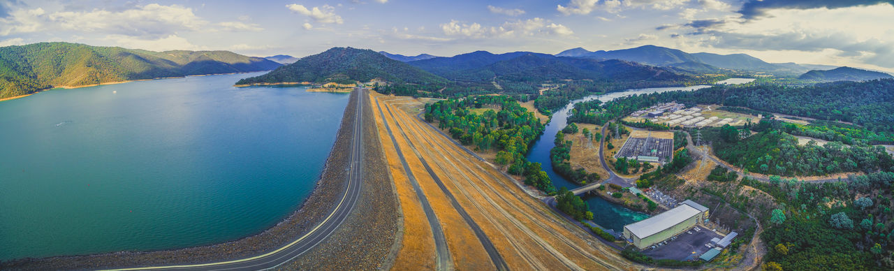 Scenic aerial panorama of Lake Eildon Dam and Goulburn River. Melbourne, Australia Australia Australian Landscape Beautiful Drone  Goulburn River Panorama Panoramic Scenic Aerial Aerial Landscape Aerial View Beauty In Nature City Cityscape Cloud - Sky Countryside Dam Day Drone Photography Eildon Flying High Angle View Industry Lake Lake Eildon Landscape Melbourne Mountain Mountain Range Mountains Nature No People Outdoors River Road Scenics Sky Transportation Travel Destinations Tree Water