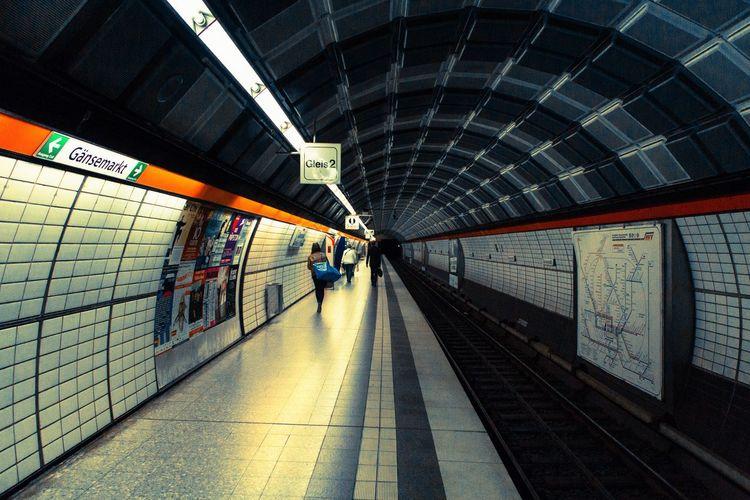 Underground Railway Station Platform
