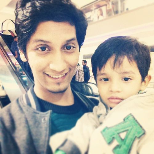 Shopping with my Nephew  Bilal ❤ Selfie dollman mall winters love Karachi :)