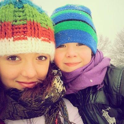Winter Walk With Brother instaphoto tagsforlikes czechgirl czechboy snow peace nice saturday